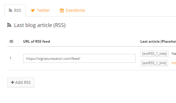 Twitter, Blog, Eventbrite in your signature