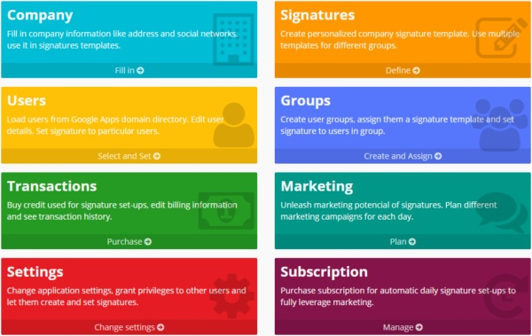 SignatureSatori - central signature management for G Suite (Google Apps)